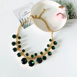 Kate Spade Green Crystal Statement Necklace